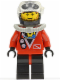 Minifig No: div015  Name: Divers - Red diver 2, Black Legs with Red Hips, Black Helmet, Brown Bangs, Stubble