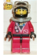 Minifig No: div018  Name: Divers - Red Diver 2, Red Legs with Black Hips, Black Helmet, White Bangs