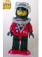 Minifig No: div019  Name: Divers - Red Diver 2, Black Legs with Red Hips, Black Helmet, Red Flippers