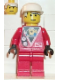 Minifig No: div020  Name: Divers - Red Diver 2, White Cap