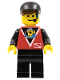 Minifig No: div023  Name: Divers - Control 1, Black Legs, Black Cap
