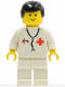 Minifig No: doc002  Name: Doctor - Stethoscope, White Legs, Black Male Hair