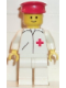 Minifig No: doc007  Name: Doctor - Straight Line, White Legs, Red Hat