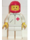 Minifig No: doc011  Name: Doctor - Straight Line, White Legs, Red Classic Helmet