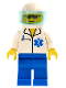 Minifig No: doc017  Name: Doctor - EMT Star of Life, Blue Legs, White Helmet, Trans-Light Blue Visor