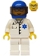 Minifig No: doc022  Name: Doctor - EMT Star of Life Button Shirt, White Legs, Blue Helmet, Trans-Black Visor