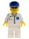Minifig No: doc023  Name: Doctor - EMT Star of Life Button Shirt, White Legs, Blue Cap, Goatee