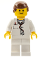 Minifig No: doc025  Name: Doctor - Lab Coat Stethoscope and Thermometer, White Legs, Reddish Brown Male Hair