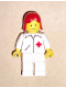 Minifig No: doc031  Name: Doctor - Straight Line, White Legs, Red Female Hair
