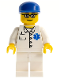 Minifig No: doc034  Name: Doctor - EMT Star of Life Button Shirt, White Legs, Blue Cap, Glasses
