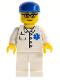 Minifig No: doc034  Name: Doctor - EMT Star of Life Button Shirt, White Legs, Blue Cap, Glasses