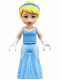 Minifig No: dp022  Name: Cinderella - Bright Light Blue Dress