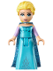 Minifig No: dp034  Name: Elsa - Medium Blue Long Narrow Cape, Lavender Sleeves