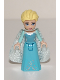 Minifig No: dp035  Name: Elsa - Sparkly Light Aqua Cape