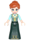 Minifig No: dp041  Name: Anna - Sand Green Top, Dark Green Skirt (41148)