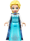 Minifig No: dp050  Name: Elsa - Medium Blue Long Narrow Cape, White Sleeves