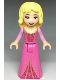 Minifig No: dp064  Name: Aurora - Open Mouth with Roses on Dress