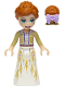Minifig No: dp070  Name: Anna - White Dress, Tan Shrug, Bow