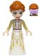 Minifig No: dp070  Name: Anna - White Dress, Tan Shrug, Bow