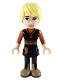 Minifig No: dp072  Name: Kristoff - Black Tunic, Dark Orange Shirt, Dark Tan Boots