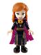 Minifig No: dp073  Name: Anna - Black Dress, Magenta and Dark Purple Cape
