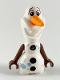 Minifig No: dp074  Name: Olaf - Mini Doll Body, Metallic Light Blue Snowflakes