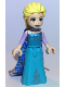 Minifig No: dp076  Name: Elsa - Medium Blue Long Narrow Cape with Snowflakes, Lavender Sleeves