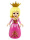 Minifig No: dp078  Name: Aurora - Wide Skirt with Gold Filigree, Pearl Gold Crown Tiara