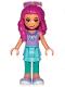 Minifig No: dp094  Name: Girl, Medium Azure Skirt and Dark Turquoise Leggings, Medium Lavender Top, Sunglasses