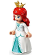 Minifig No: dp108  Name: Ariel - White Dress, Crown