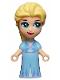 Minifig No: dp110  Name: Elsa, Bright Light Blue Dress - Micro Doll