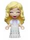 Minifig No: dp111  Name: Elsa, White Dress - Micro Doll