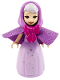Minifig No: dp114  Name: Fairy Godmother - Dark Bluish Gray Eyebrows