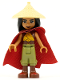 Minifig No: dp116  Name: Raya - Tan Conical Hat, Red Cape