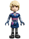 Minifig No: dp137  Name: Kristoff - Dark Blue Tunic, Black Boots and Sand Blue Sleeves