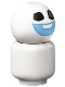 Minifig No: dp142  Name: Snowgie - Bright Light Blue Smile