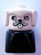 Minifig No: dupfig001r  Name: Duplo 2 x 2 x 2 Figure Brick Early, Dog on Black Base, White Head , looks Right