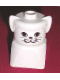 Minifig No: dupfig020  Name: Duplo 2 x 2 x 2 Figure Brick Early, Cat on White Base, White Head