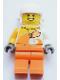 Minifig No: edu014  Name: Male, White helmet, Orange and Bright Light Orange Jacket with 'VITA RUSH', Orange Legs
