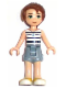 Minifig No: elf005  Name: Emily Jones, Sand Blue Shorts