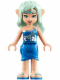 Minifig No: elf014  Name: Naida Riverheart, Blue Skirt