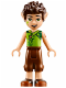 Minifig No: elf018  Name: Farran Leafshade, Reddish Brown Trousers