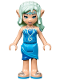 Minifig No: elf031  Name: Naida Riverheart, Dark Azure Skirt