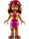 Minifig No: elf036  Name: Azari Firedancer, Magenta and Gold