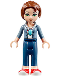 Minifig No: elf044  Name: Emily Jones, Sand Blue Jacket, Dark Blue Trousers