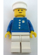Minifig No: env002  Name: Coast Guard Captain  - White Hat, Torso Sticker with 4 Buttons and Badge