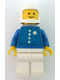Minifig No: env003  Name: Coast Guard - White Classic Helmet, Torso Sticker with 4 Buttons and Badge, Airtanks