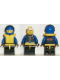 Minifig No: ext002  Name: Extreme Team - Blue, Blue Helmet Plain, Life Jacket