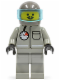 Minifig No: ext003  Name: Extreme Team - Gray with Dark Gray Helmet