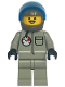 Minifig No: ext003a  Name: Extreme Team - Gray with Dark Gray Helmet